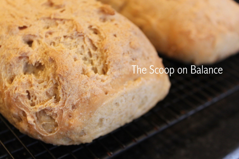 ... homemade gluten-free bread and it was delicious! And pretty easy, too