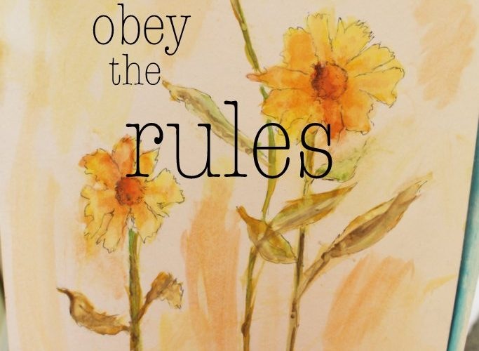 Why You Must Not Obey The Rules